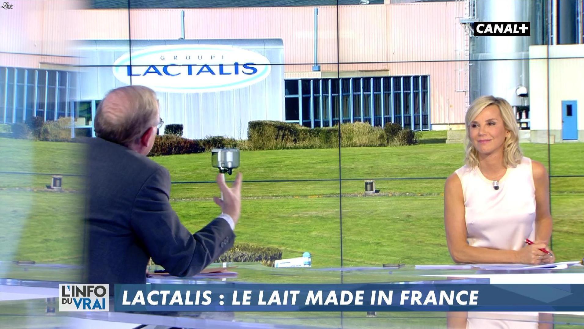 Laurence Ferrari dans l'Info du Vrai. Diffusé à la télévision le 19/01/18.