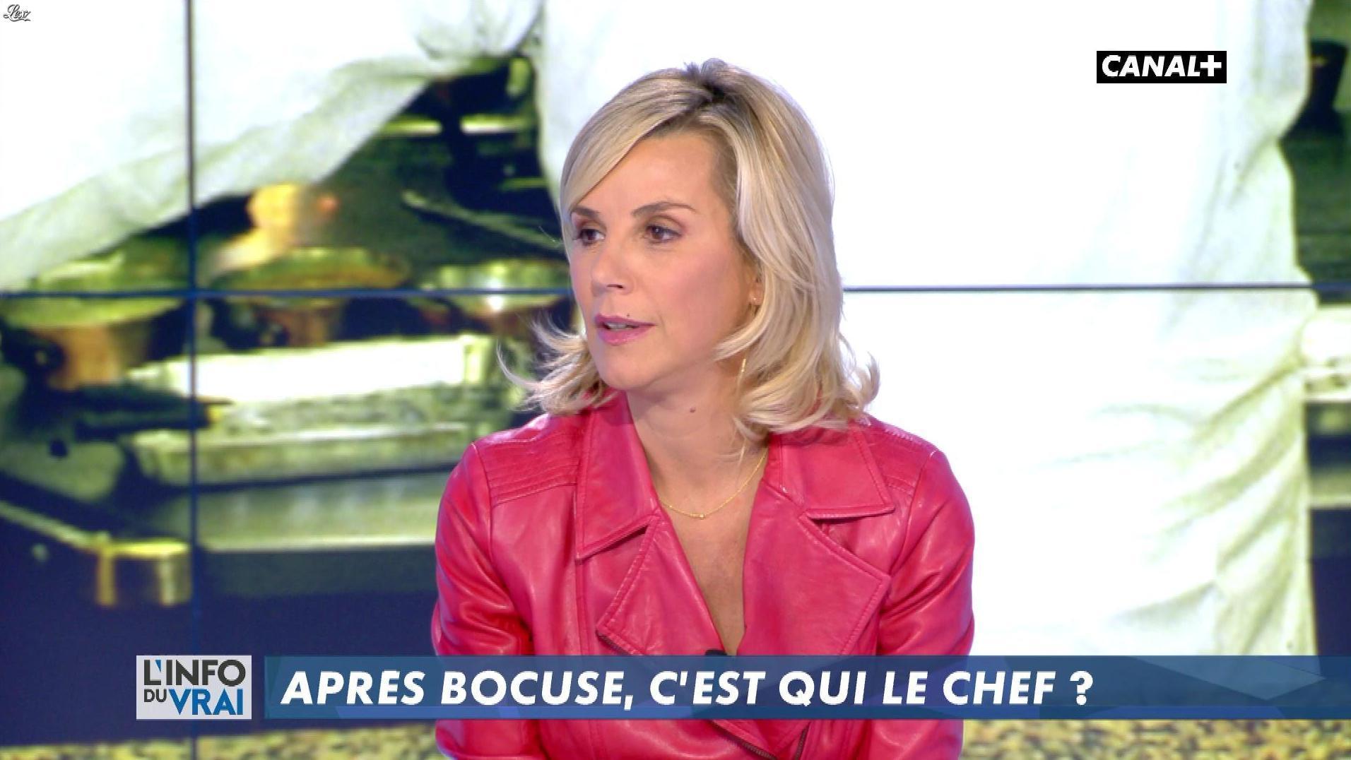 Laurence Ferrari dans l'Info du Vrai. Diffusé à la télévision le 26/01/18.