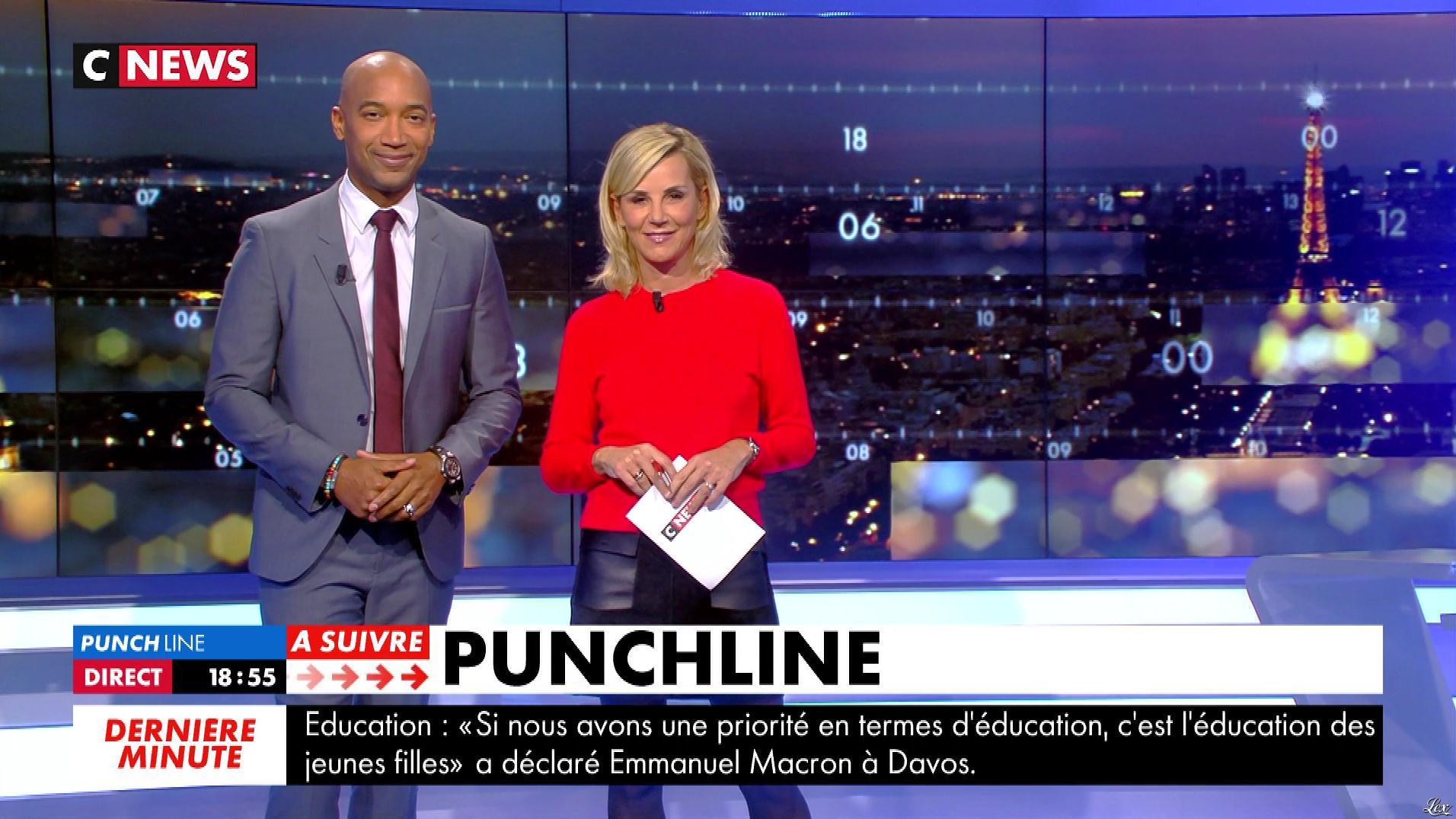 Laurence Ferrari dans Punchline. Diffusé à la télévision le 24/01/18.
