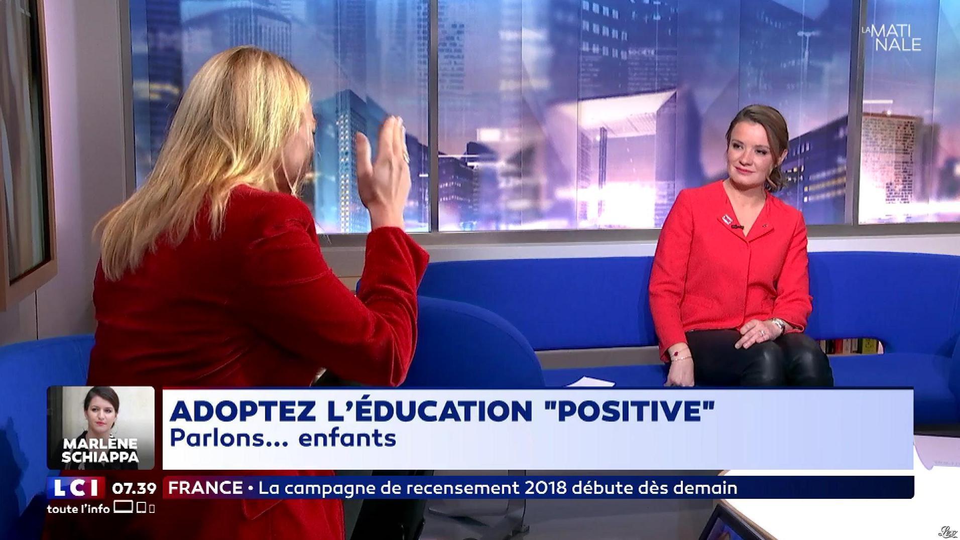 Pascale De La Tour Du Pin dans la Matinale. Diffusé à la télévision le 17/01/18.