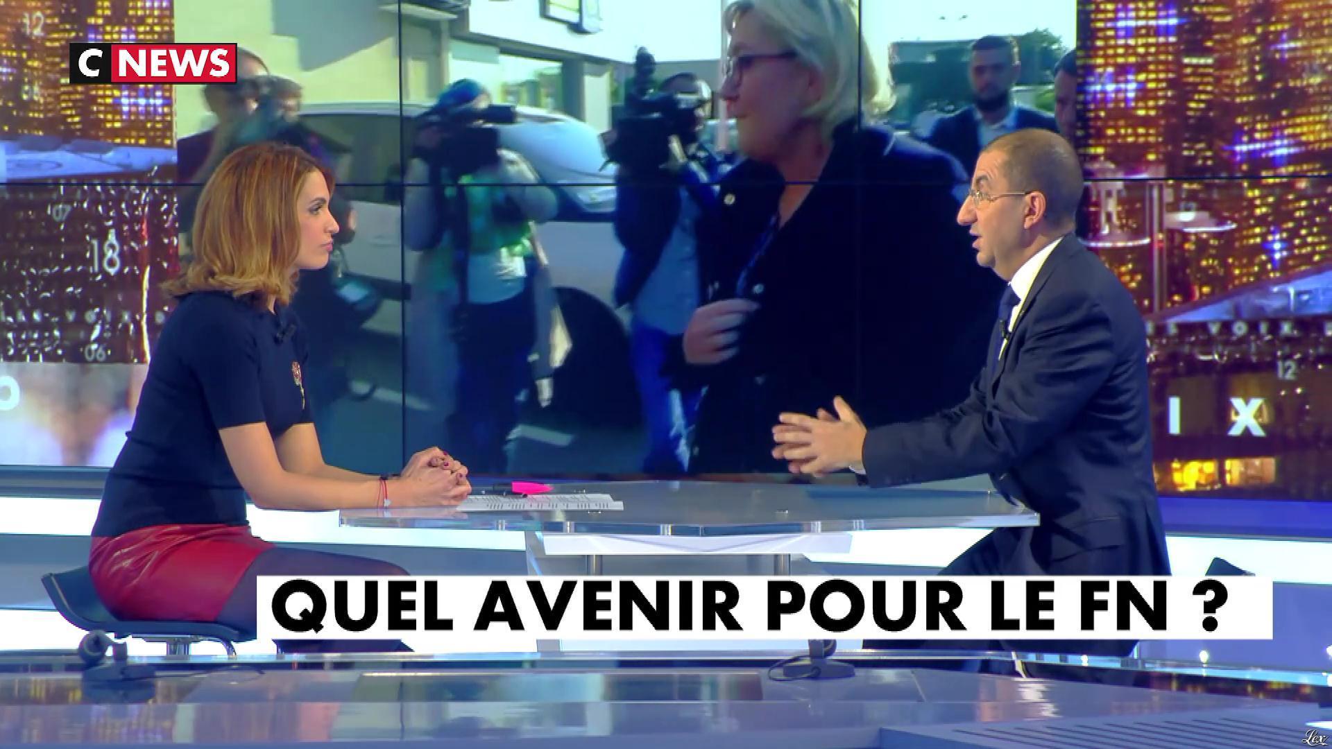 Sonia Mabrouk dans les Voix de l'Info. Diffusé à la télévision le 15/01/18.