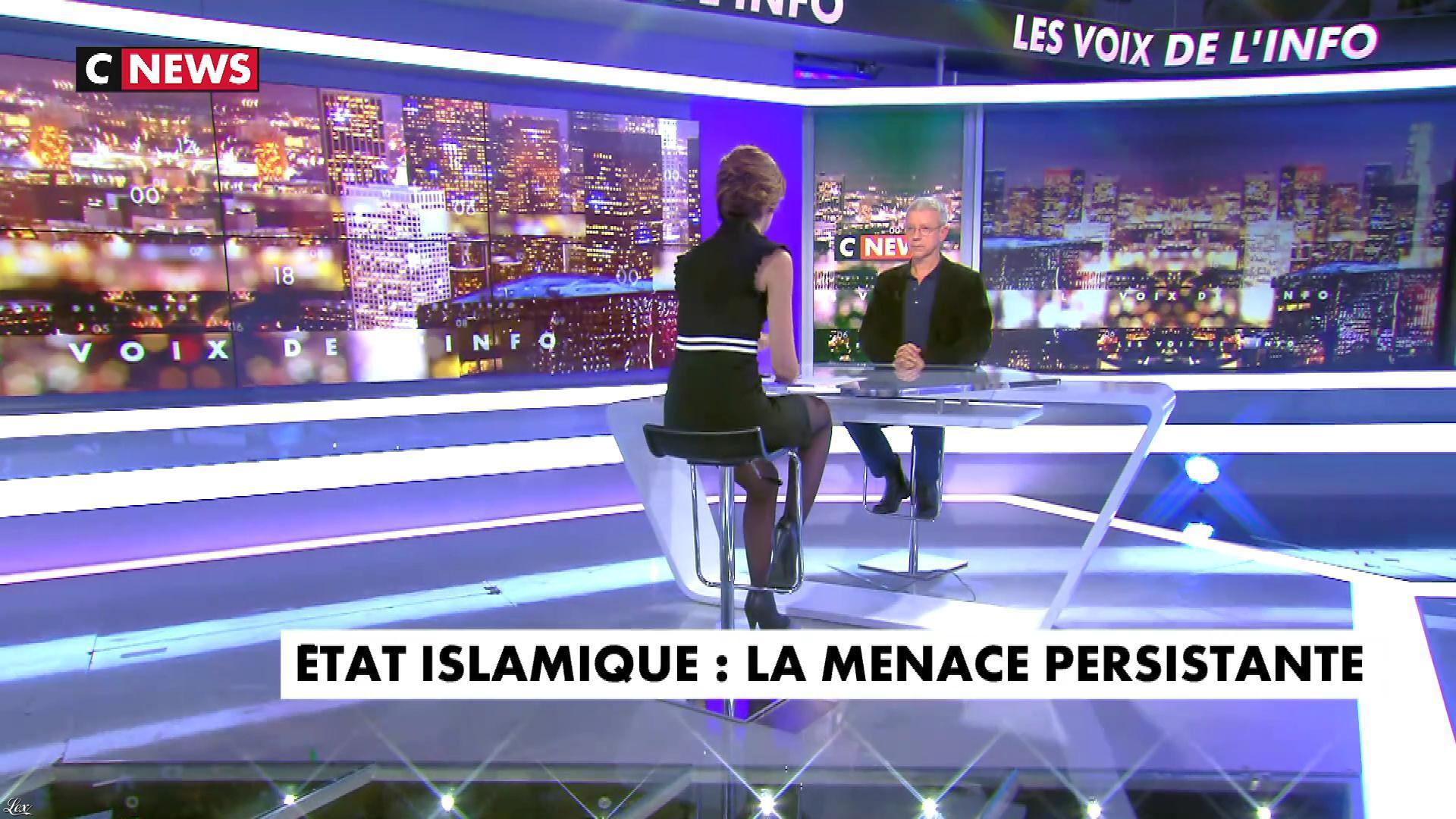 Sonia Mabrouk dans les Voix de l'Info. Diffusé à la télévision le 18/01/18.