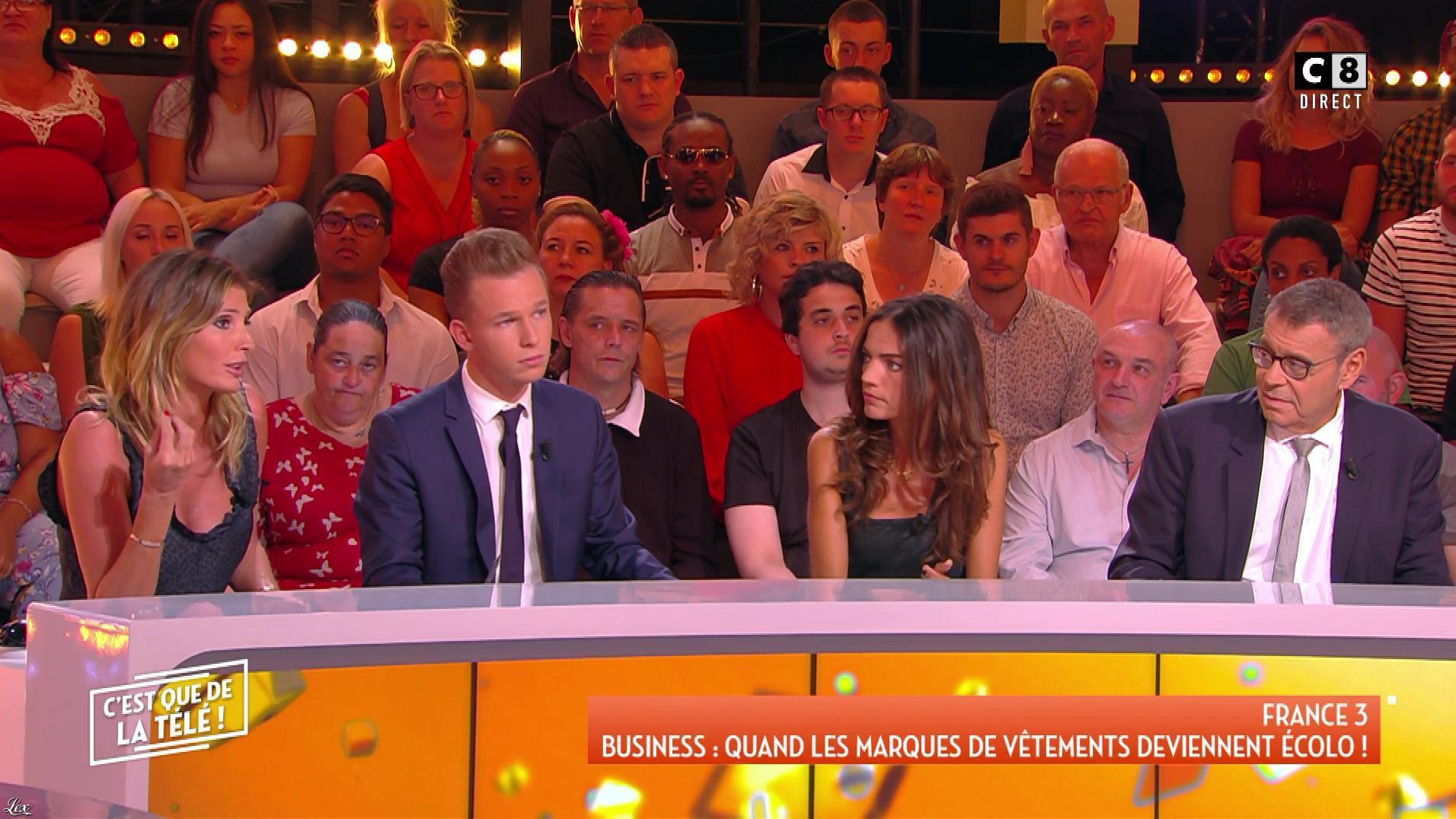 Caroline Ithurbide et FrancesÇa Antoniotti dans c'est Que de la Télé. Diffusé à la télévision le 10/09/18.