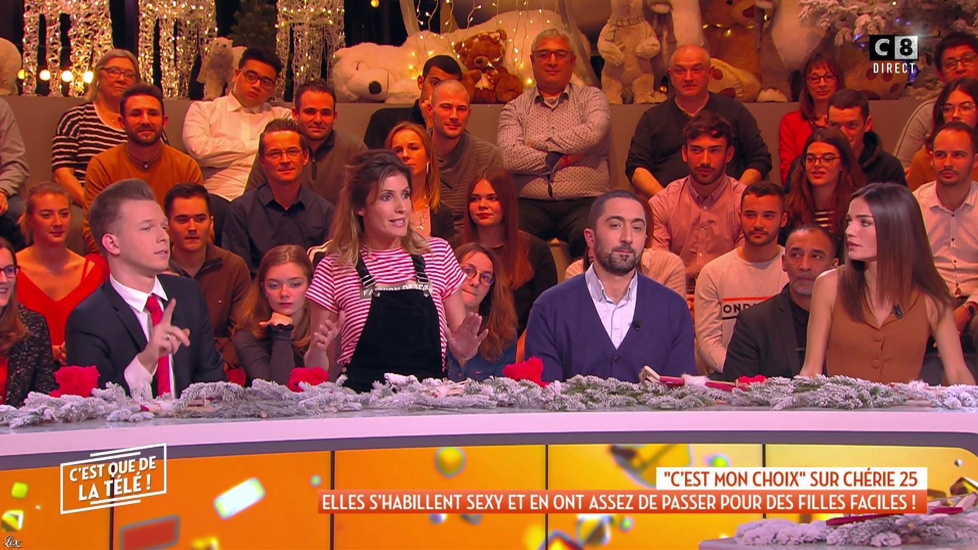 Caroline Ithurbide et FrancesÇa Antoniotti dans c'est Que de la Télé. Diffusé à la télévision le 10/12/18.