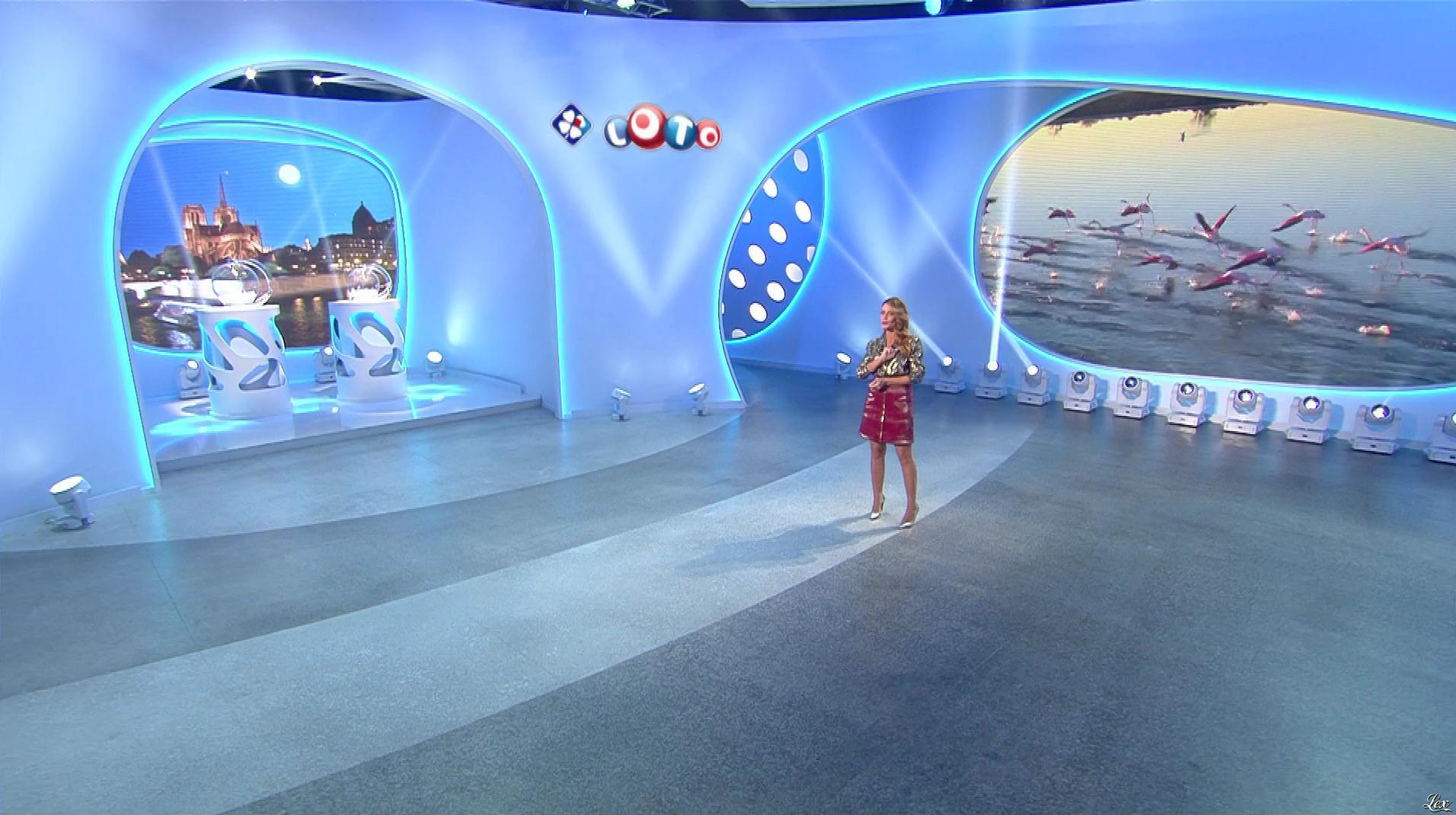 Elsa Fayer lors du Tirage du Loto. Diffusé à la télévision le 29/10/18.