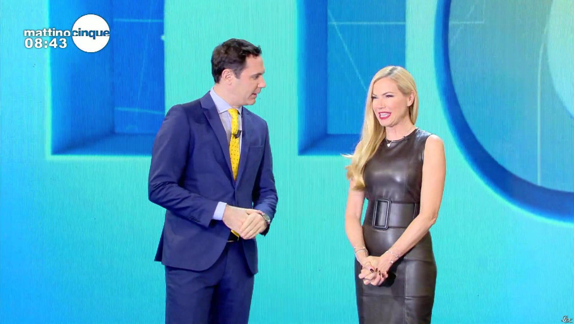 FederiÇa Panicucci dans Mattino 5. Diffusé à la télévision le 07/11/18.