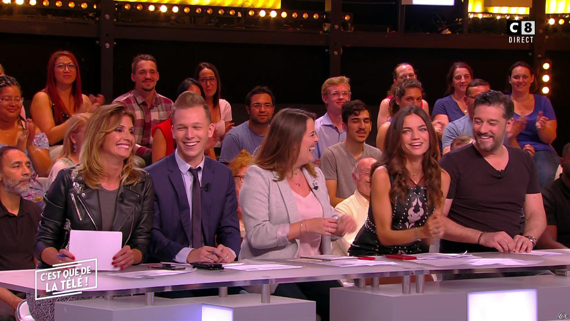 FrancesÇa Antoniotti et Caroline Ithurbide dans c'est Que de la Télé. Diffusé à la télévision le 01/06/18.