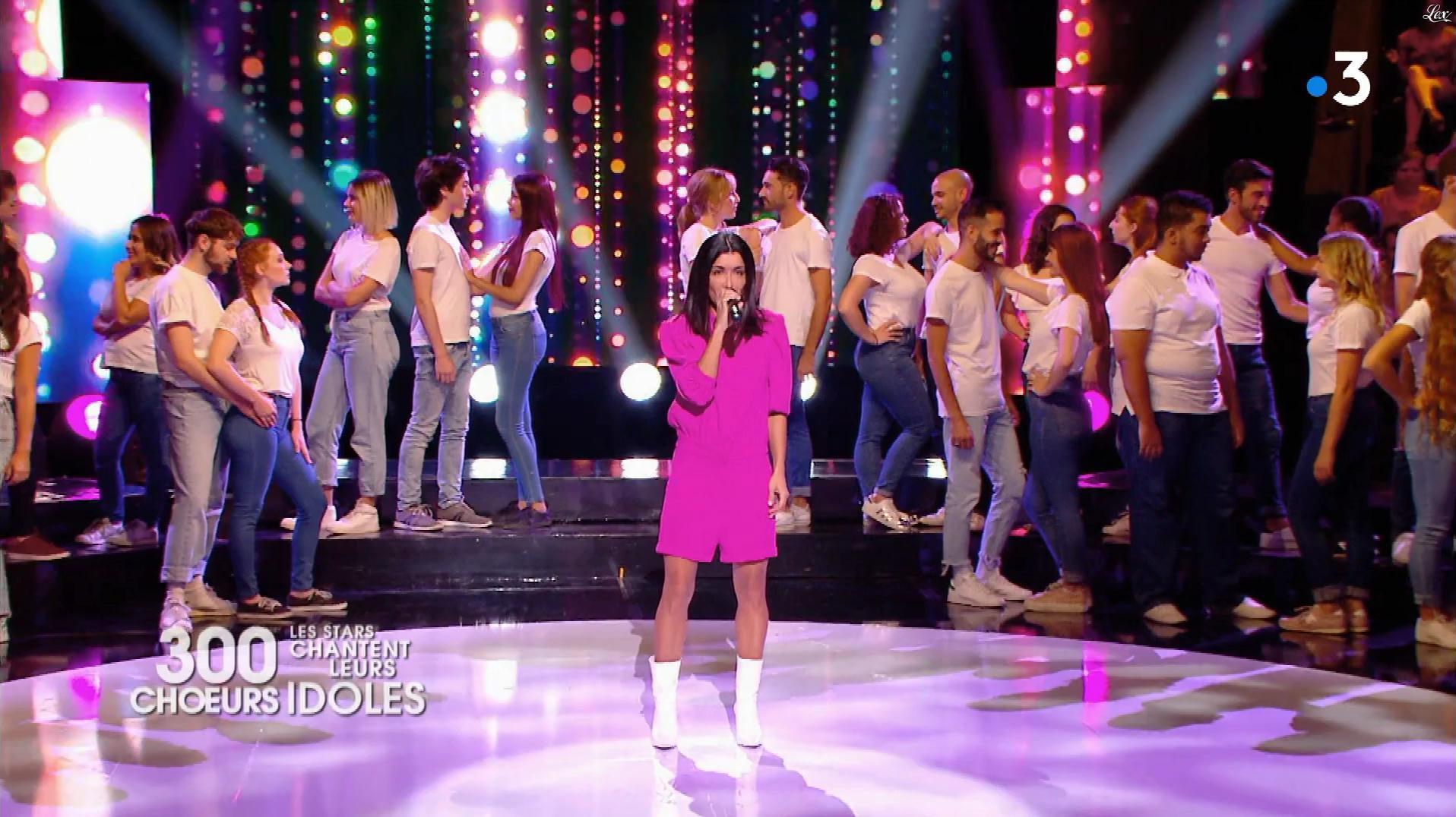 Jenifer Bartoli dans 300 Chœurs. Diffusé à la télévision le 02/11/18.