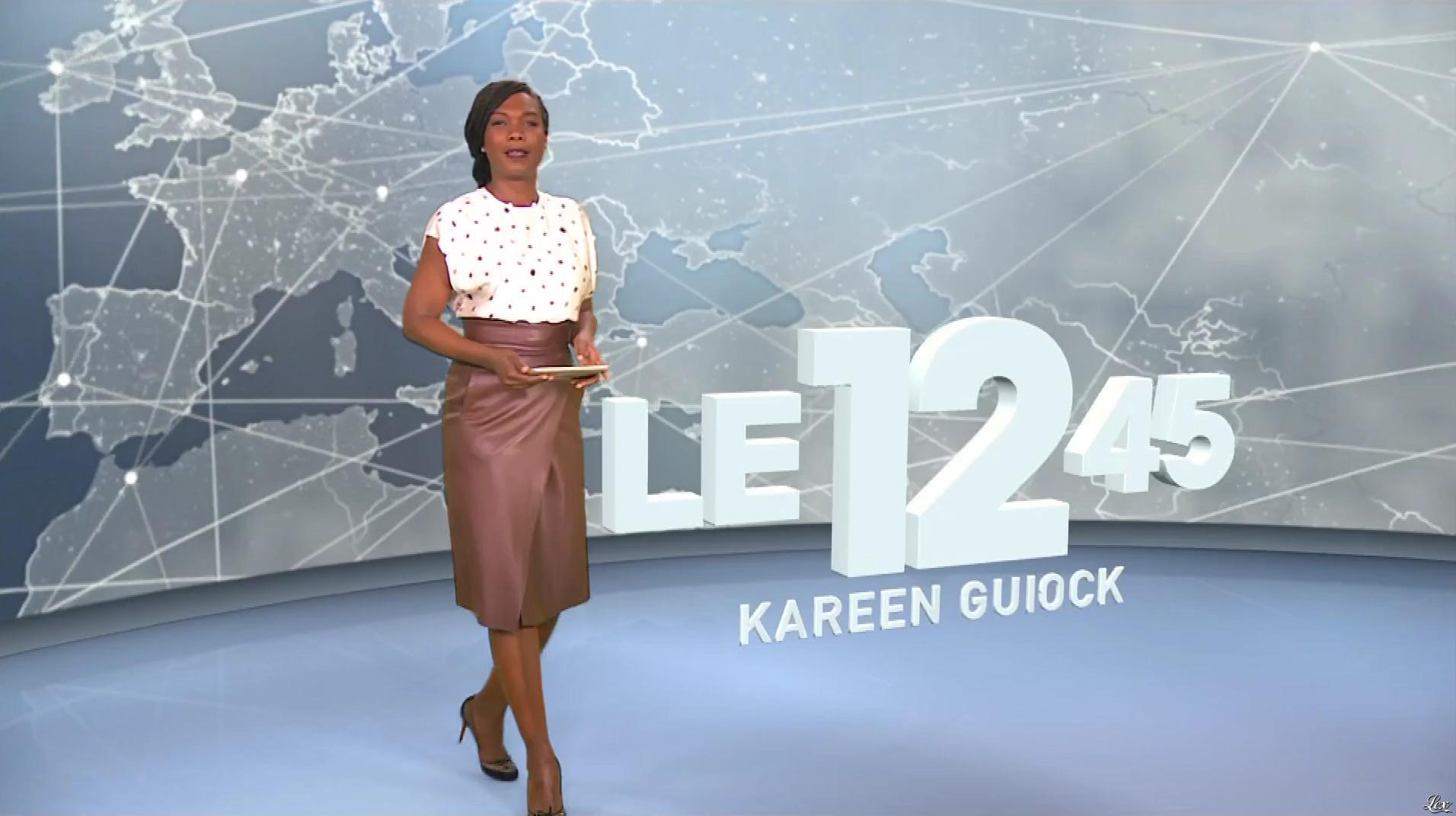 Kareen Guiock dans le 12-45. Diffusé à la télévision le 07/12/18.
