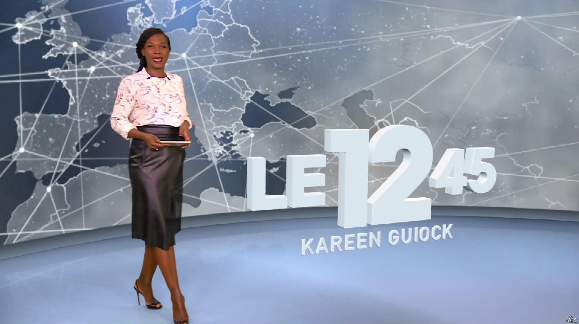 Kareen Guiock dans le 12-45. Diffusé à la télévision le 11/10/18.