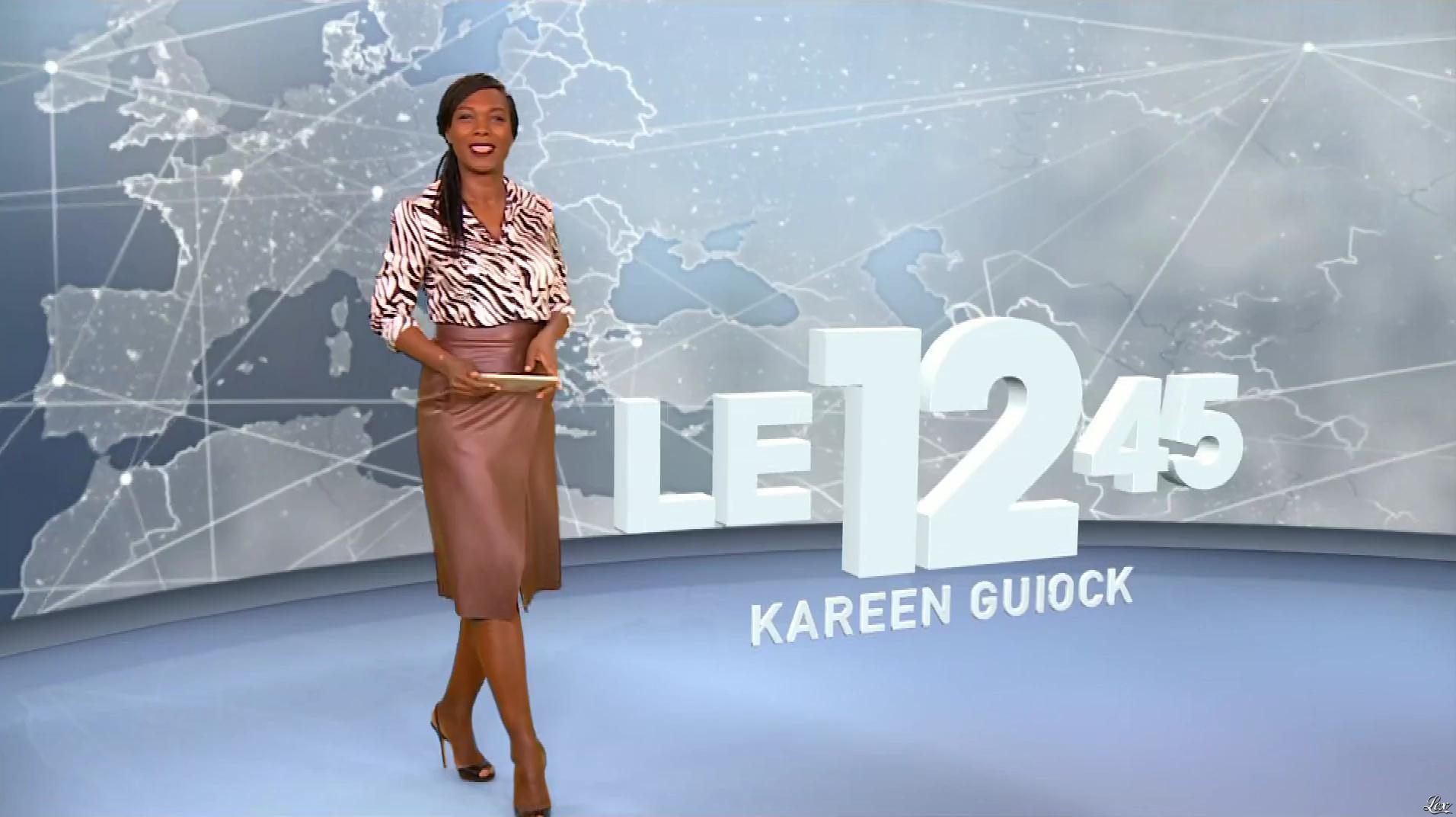 Kareen Guiock dans le 12-45. Diffusé à la télévision le 15/11/18.
