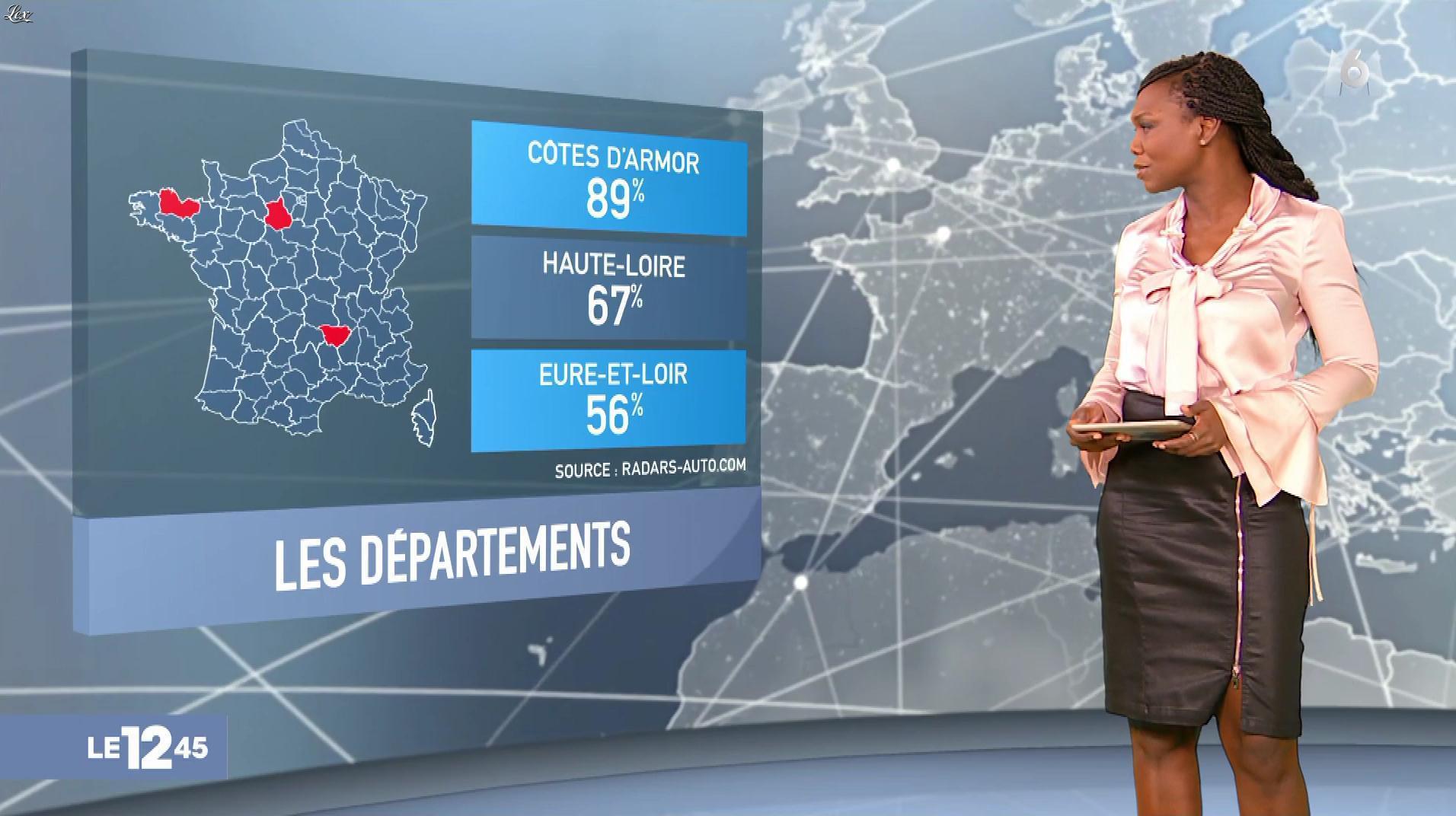 Kareen Guiock dans le 12-45. Diffusé à la télévision le 28/11/18.
