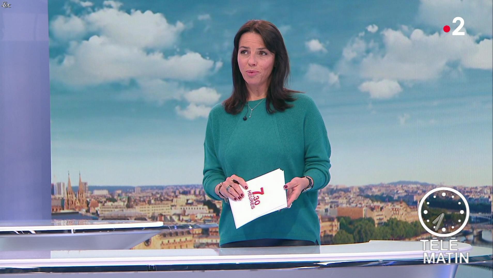 Sophie Le Saint dans Télématin. Diffusé à la télévision le 30/10/18.