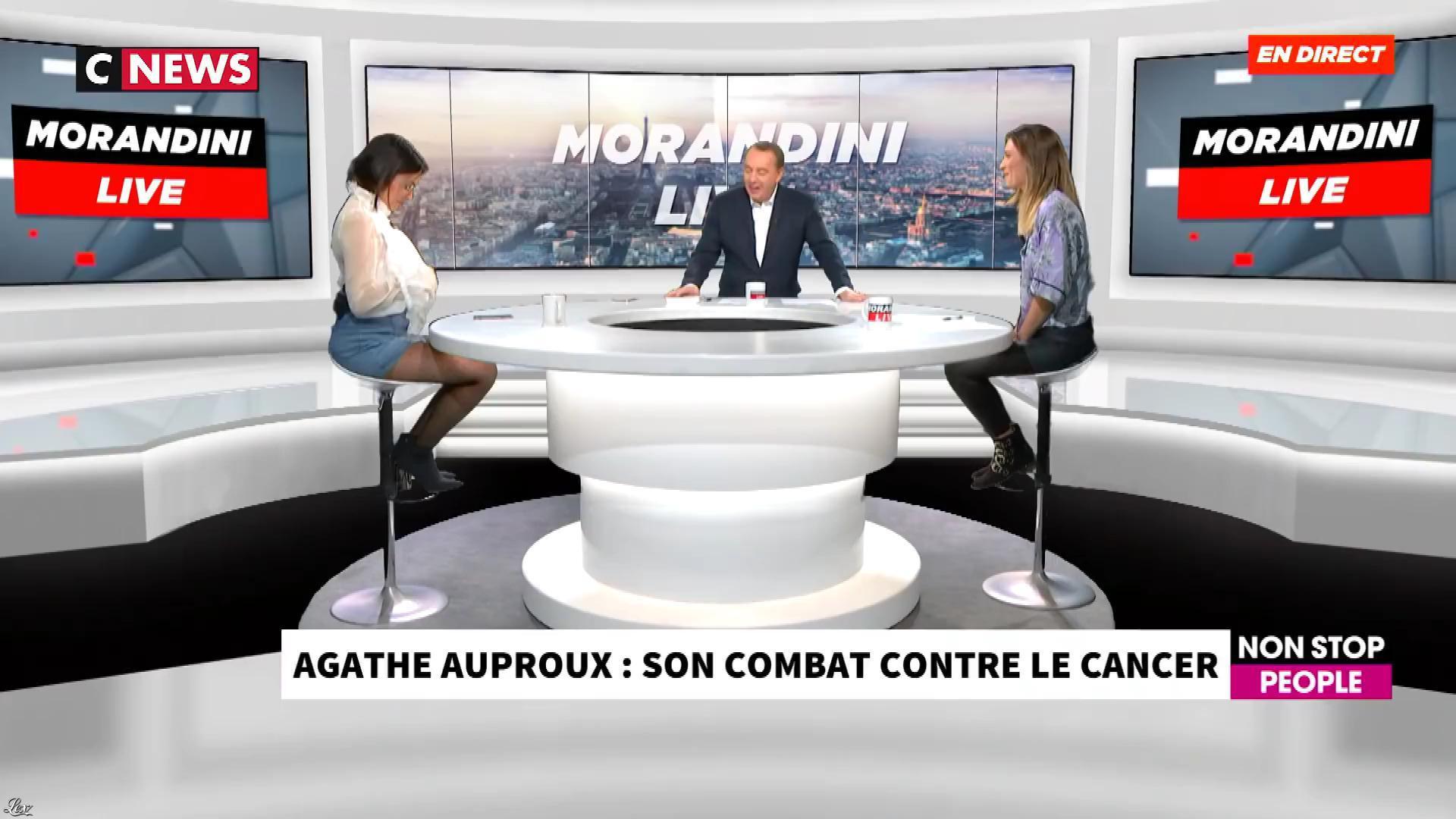 Agathe Auproux chez Morandini Live. Diffusé à la télévision le 23/10/19.