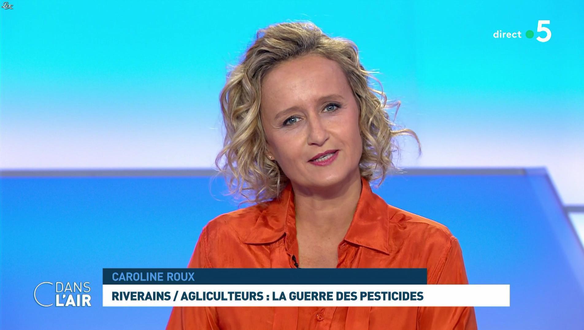 Caroline Roux dans C dans l'Air. Diffusé à la télévision le 10/09/19.