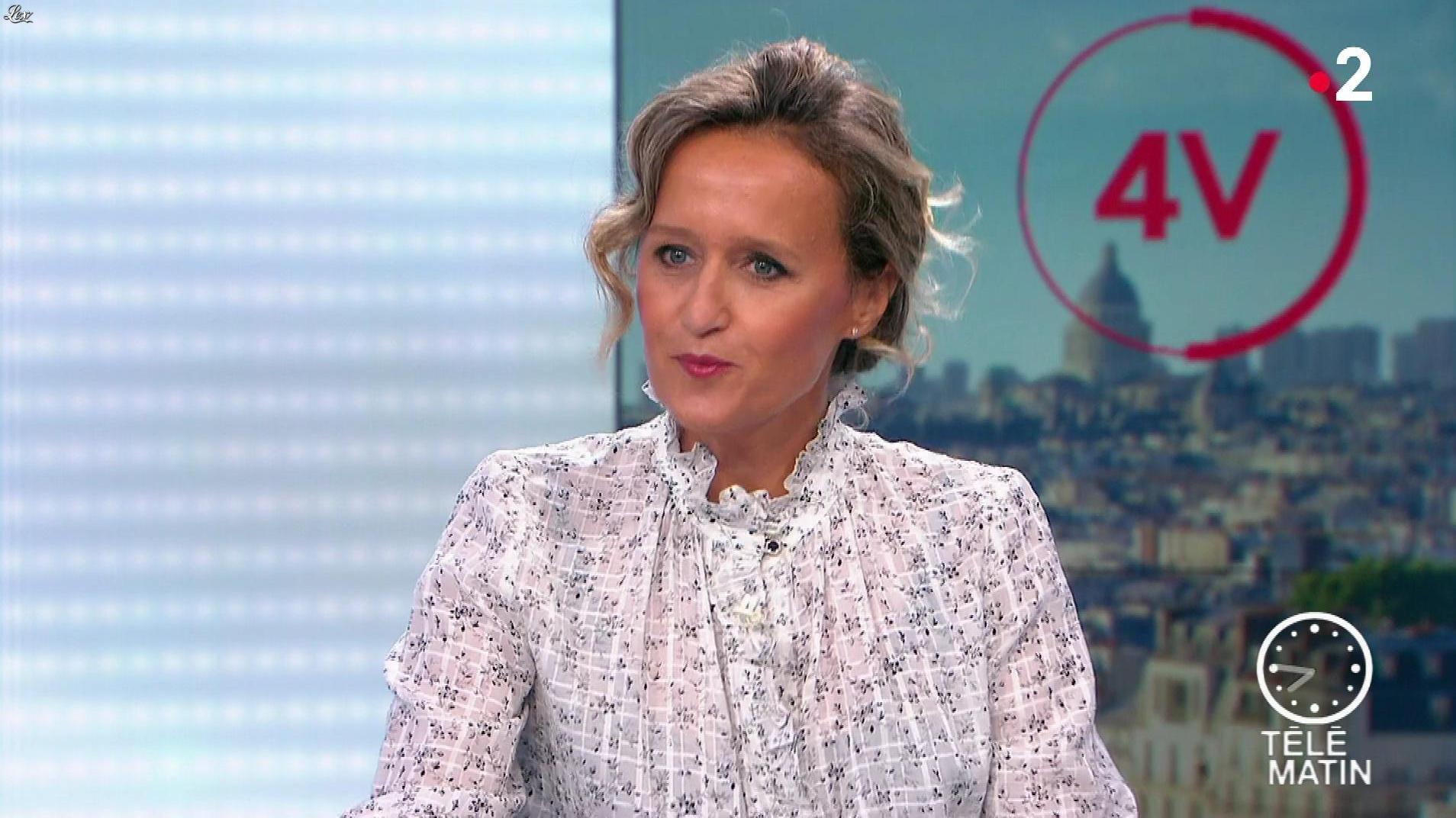 Caroline Roux dans les 4 Vérités. Diffusé à la télévision le 04/09/19.