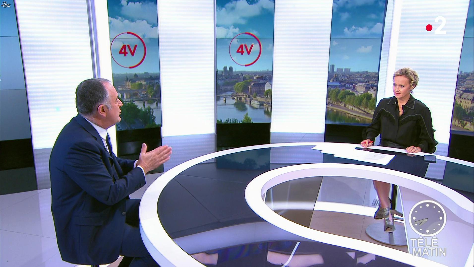 Caroline Roux dans les 4 Vérités. Diffusé à la télévision le 09/10/19.