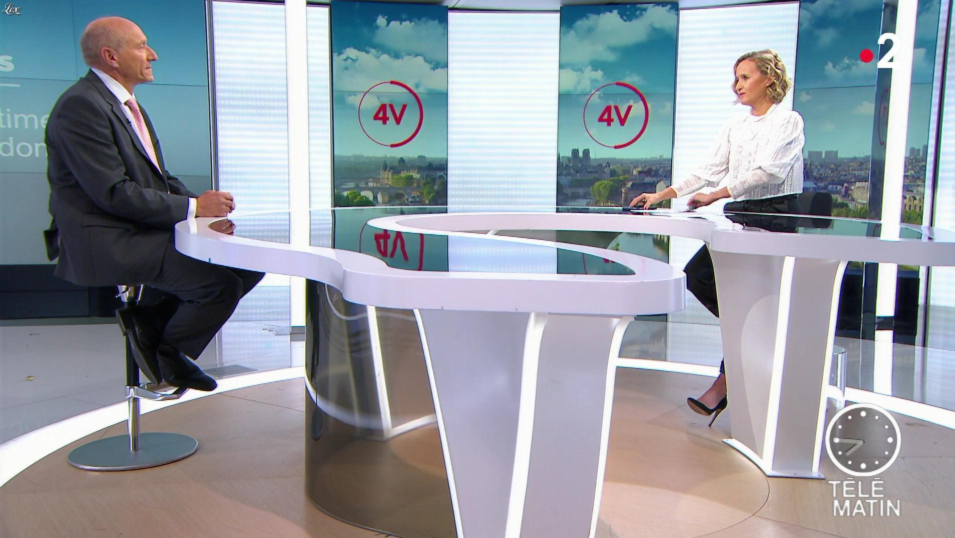 Caroline Roux dans les 4 Vérités. Diffusé à la télévision le 12/09/19.