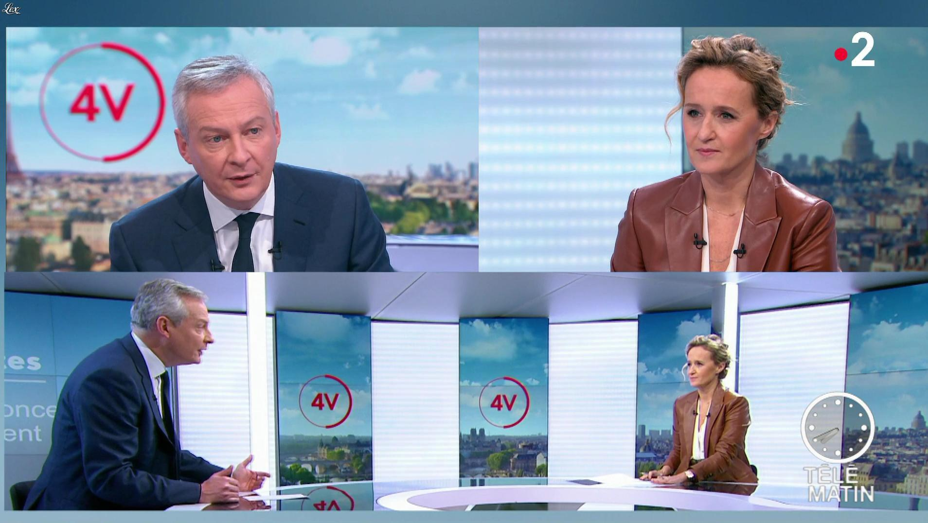 Caroline Roux dans les 4 Vérités. Diffusé à la télévision le 12/12/19.