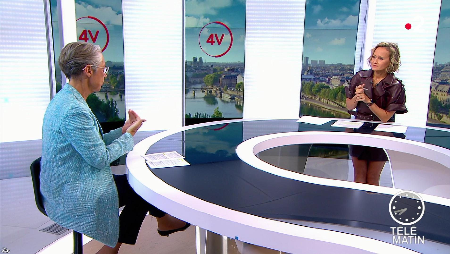Caroline Roux dans les 4 Vérités. Diffusé à la télévision le 17/09/19.