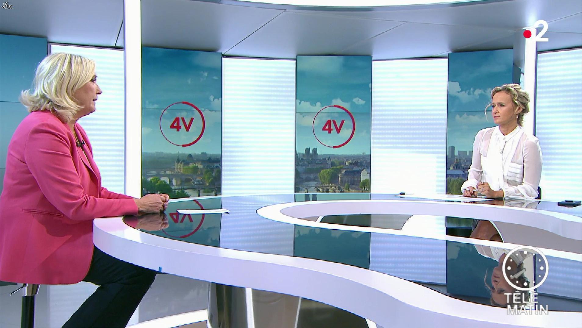 Caroline Roux dans les 4 Vérités. Diffusé à la télévision le 19/09/19.