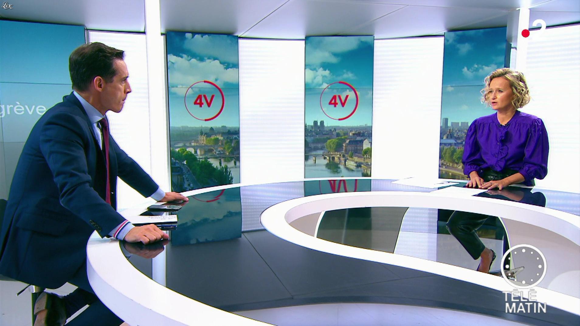 Caroline Roux dans les 4 Vérités. Diffusé à la télévision le 24/09/19.