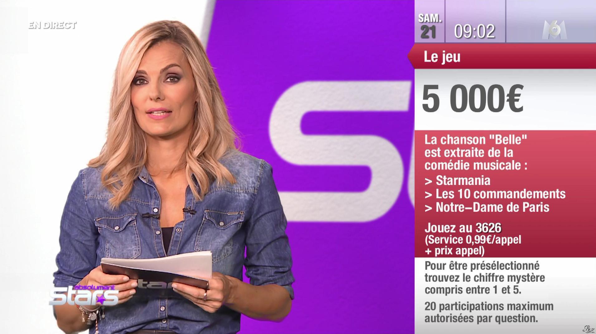 Claire Nevers dans Absolument Stars. Diffusé à la télévision le 21/09/19.