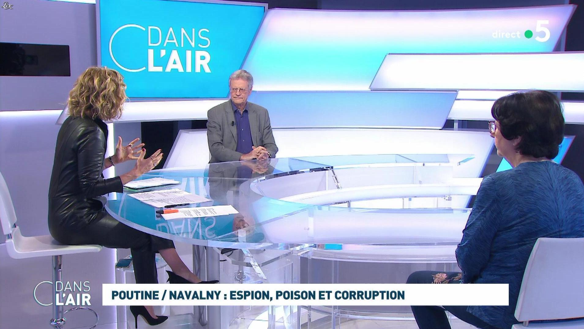 Caroline Roux dans C dans l'Air. Diffusé à la télévision le 28/01/21.