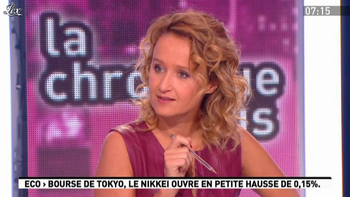 Caroline Roux dans la Matinale. Diffusé à la télévision le 28/09/11.