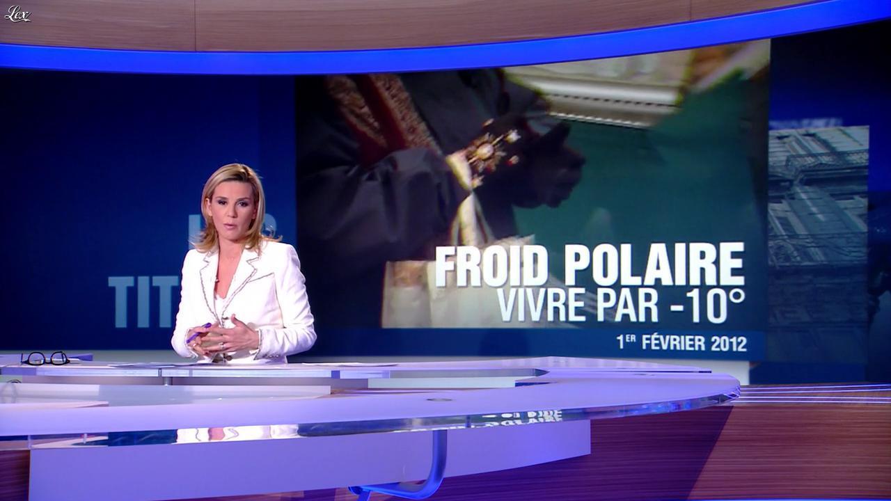 Laurence Ferrari au JT de 20h. Diffusé à la télévision le 01/02/12.