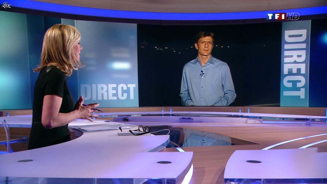 Laurence Ferrari au JT de 20h. Diffusé à la télévision le 11/04/12.