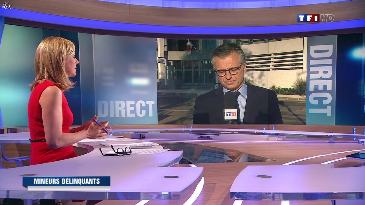 Laurence Ferrari au JT de 20h. Diffusé à la télévision le 14/05/12.