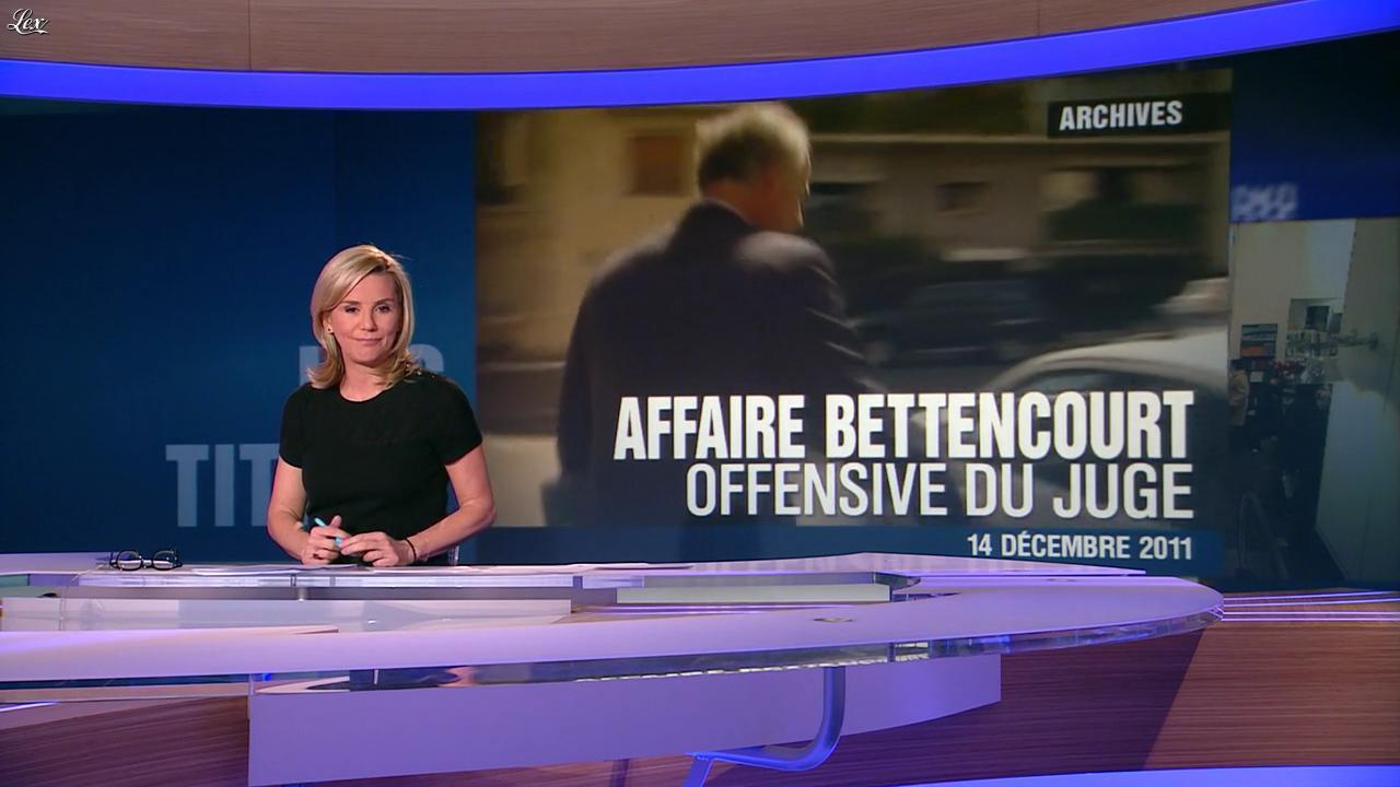 Laurence Ferrari au JT de 20h. Diffusé à la télévision le 14/12/11.