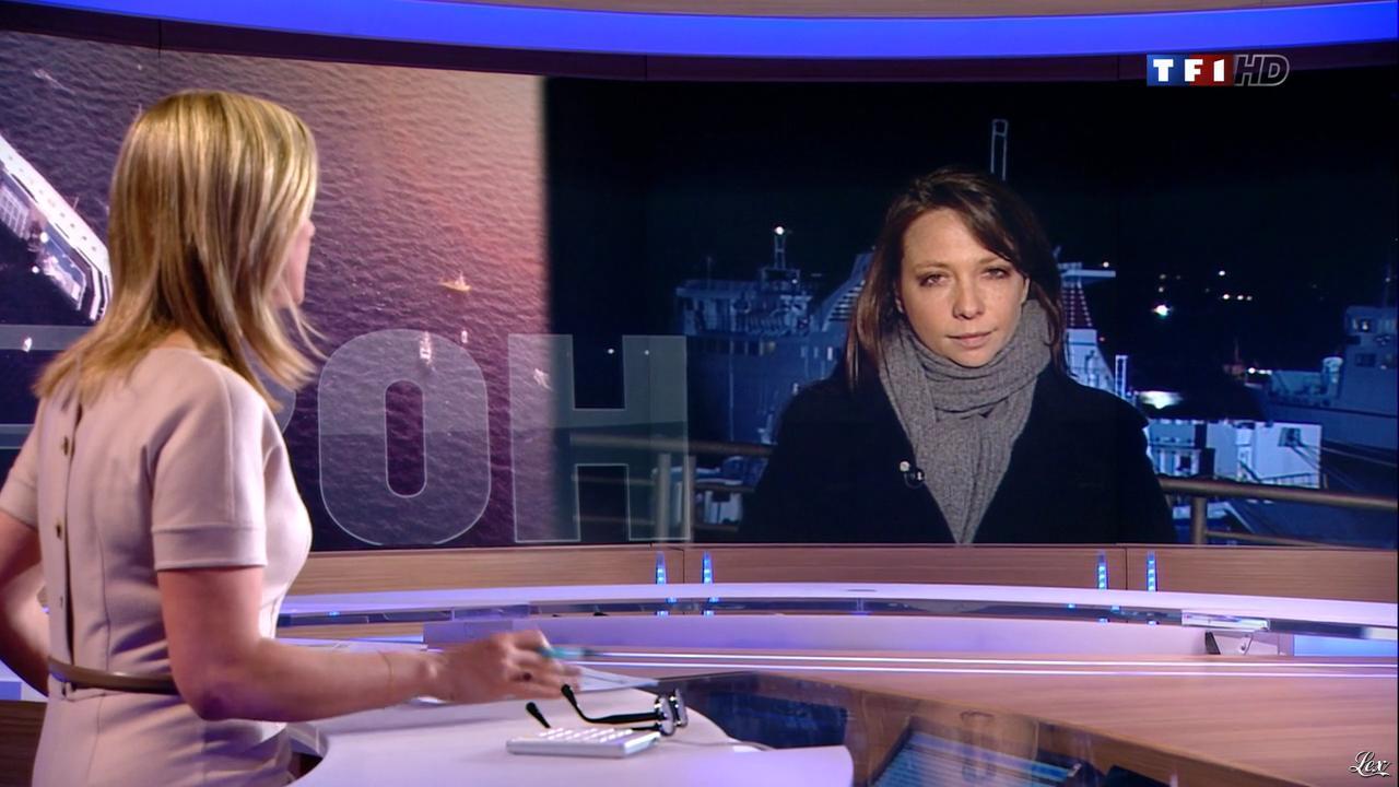 Laurence Ferrari au JT de 20h. Diffusé à la télévision le 17/01/12.