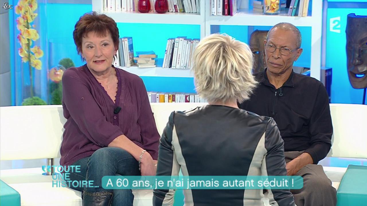 Sophie Davant dans Toute une Histoire. Diffusé à la télévision le 31/01/12.