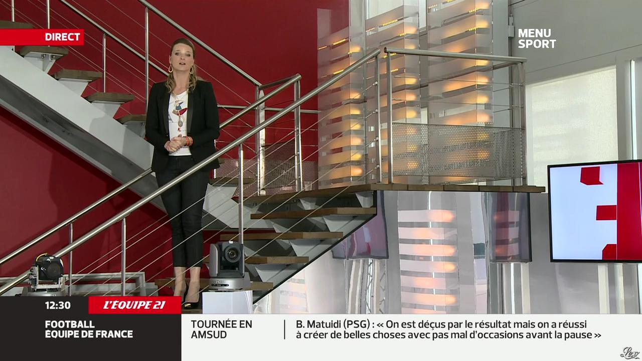 France Pierron dans Menu Sport. Diffusé à la télévision le 06/06/13.