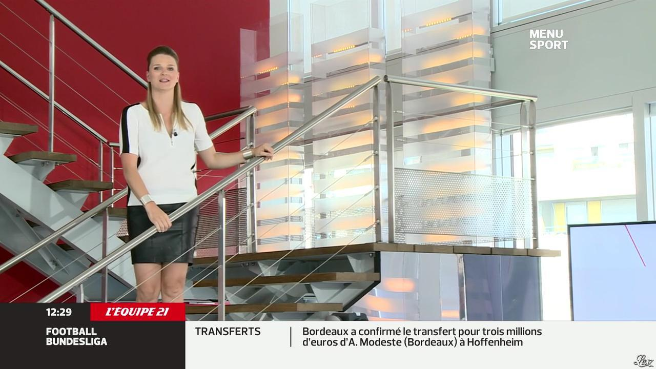 France Pierron dans Menu Sport. Diffusé à la télévision le 09/07/13.