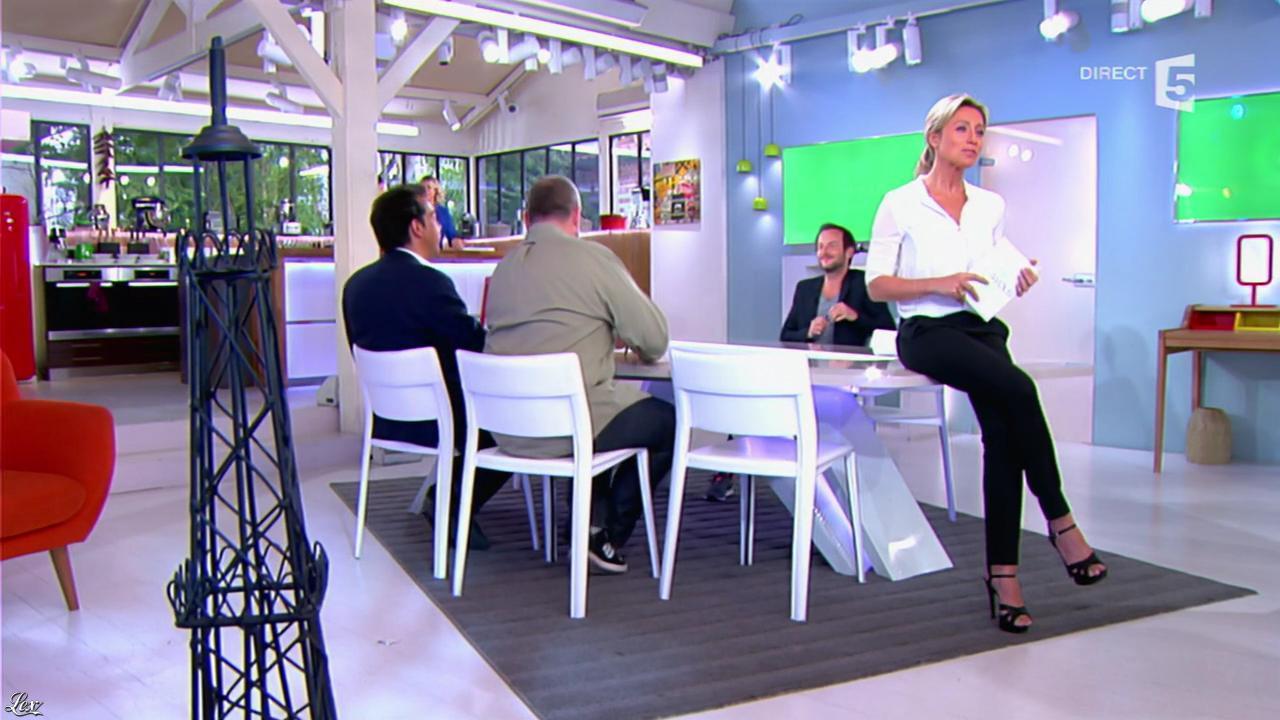 Anne-Sophie Lapix dans C à Vous. Diffusé à la télévision le 19/05/14.