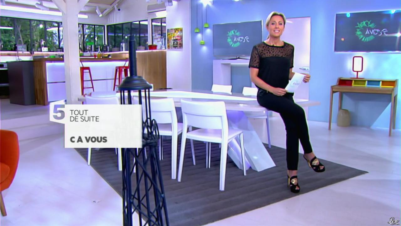 Anne-Sophie Lapix dans C à Vous. Diffusé à la télévision le 20/05/14.