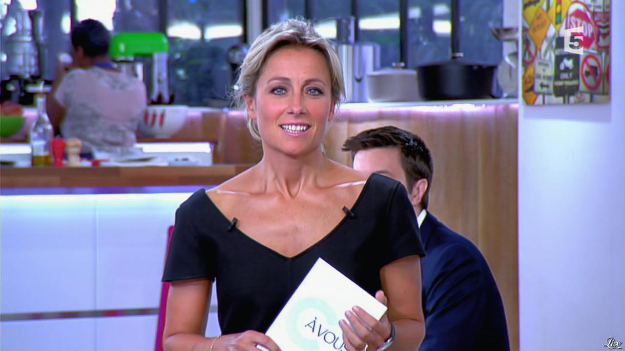 Anne-Sophie Lapix dans C à Vous. Diffusé à la télévision le 20/06/14.