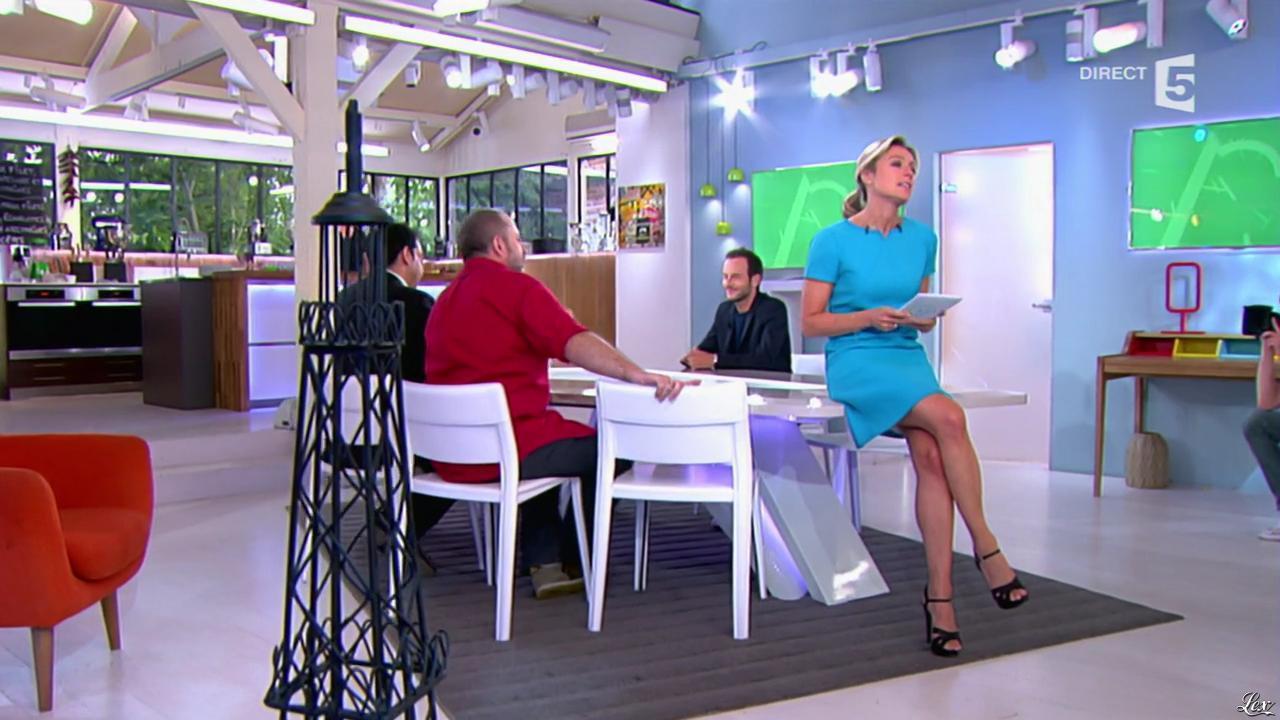 Anne-Sophie Lapix dans C à Vous. Diffusé à la télévision le 25/06/14.