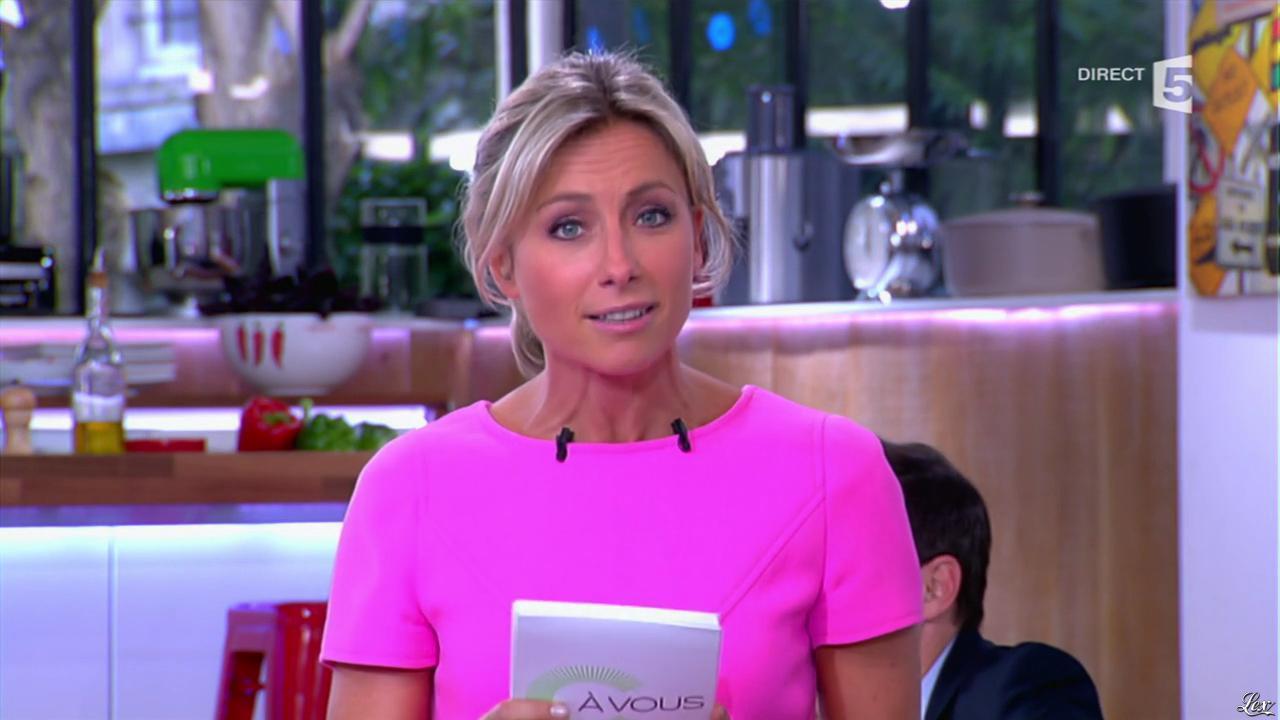 Anne-Sophie Lapix dans C à Vous. Diffusé à la télévision le 28/05/14.