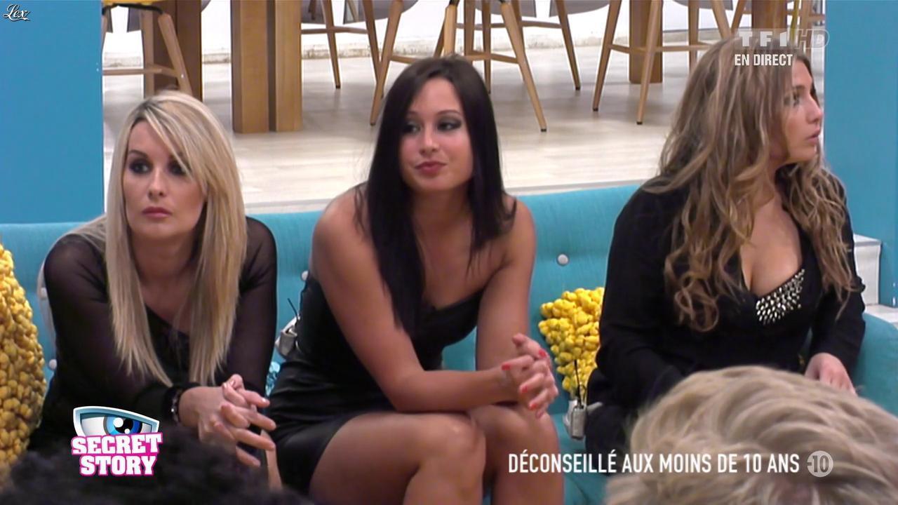 Emilie, Sonja et Clara dans Secret Story. Diffusé à la télévision le 28/06/13.