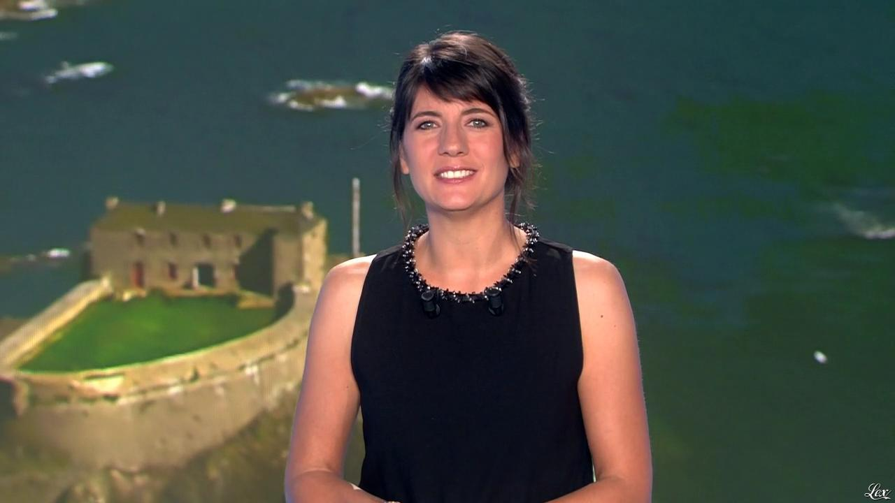 Estelle Denis lors du Tirage du Loto. Diffusé à la télévision le 14/06/14.
