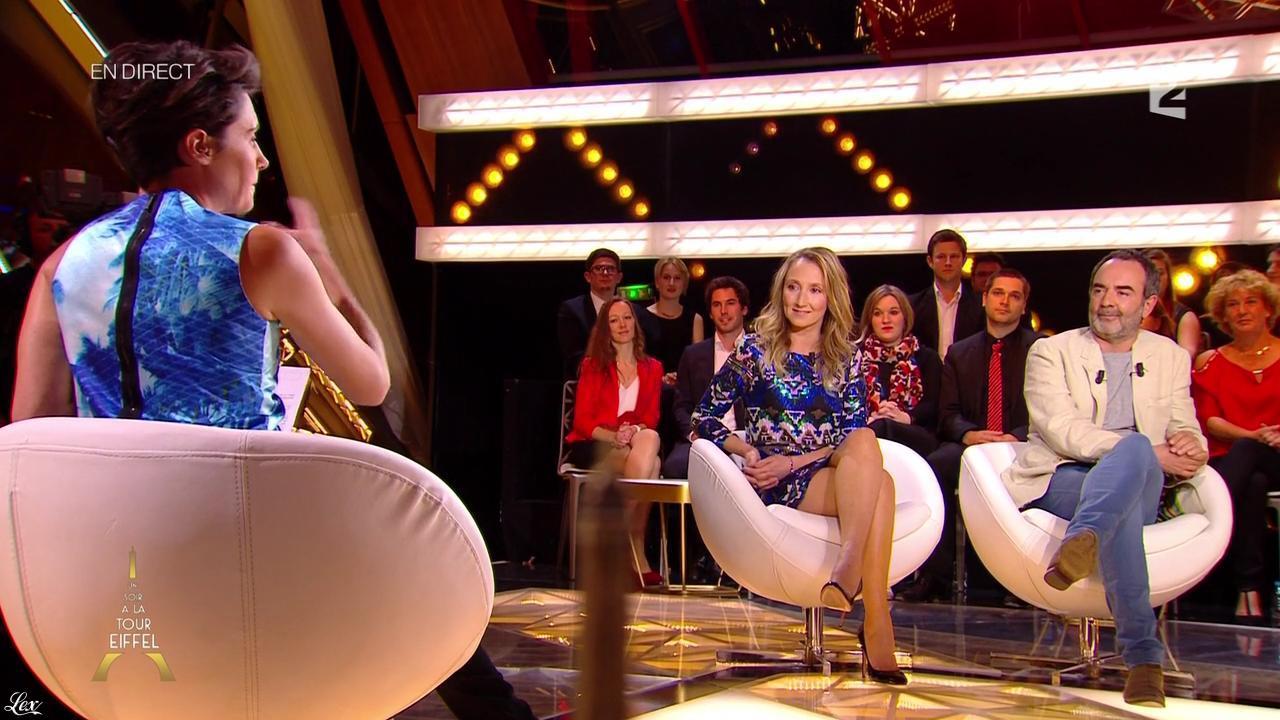 Alessandra Sublet et Audrey Lamy dans un Soir à la Tour Eiffel. Diffusé à la télévision le 27/05/15.