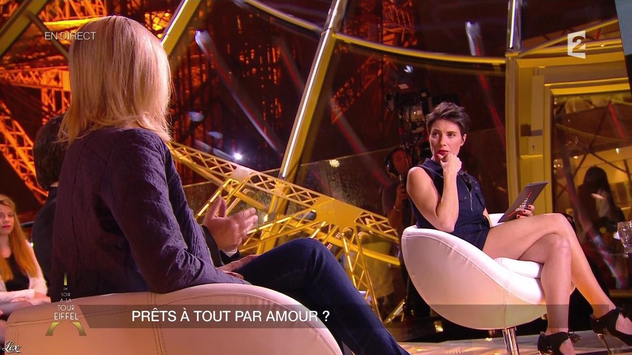 Alessandra Sublet dans un Soir à la Tour Eiffel. Diffusé à la télévision le 13/05/15.