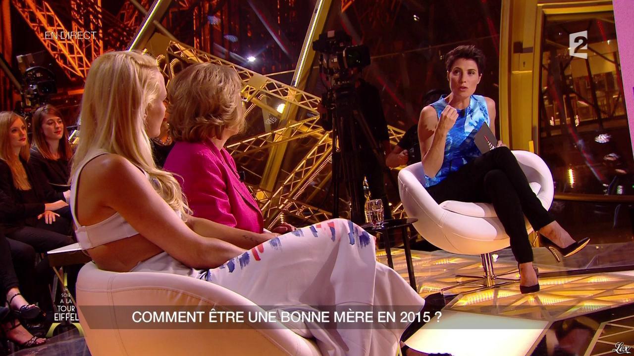 Alessandra Sublet dans un Soir à la Tour Eiffel. Diffusé à la télévision le 27/05/15.