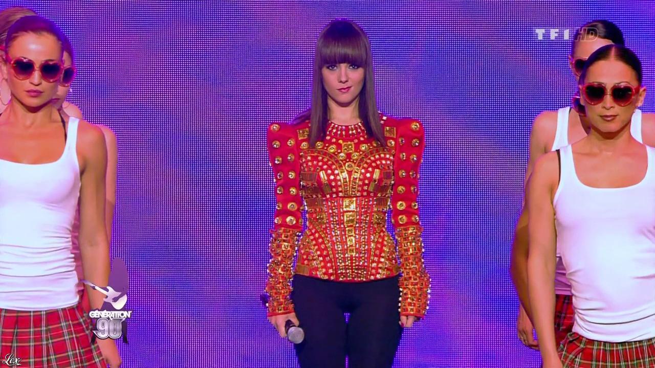 Alizée dans Génération 90. Diffusé à la télévision le 31/07/10.