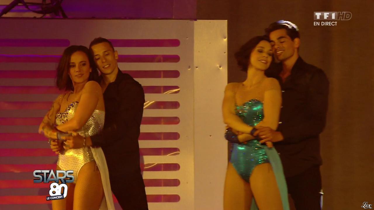 Alizée et Nathalie Pechalat dans Stars 80. Diffusé à la télévision le 09/05/15.