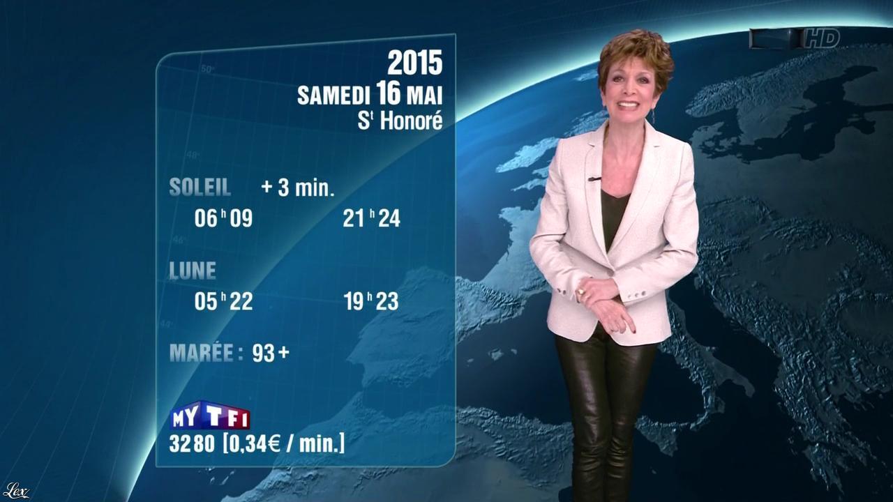 Catherine Laborde à la Météo de 20h. Diffusé à la télévision le 15/05/15.